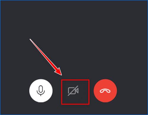 Отключить камеру во время звонка